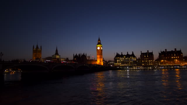 westminster big ben at night, london, england, uk - victorian architecture stock videos & royalty-free footage