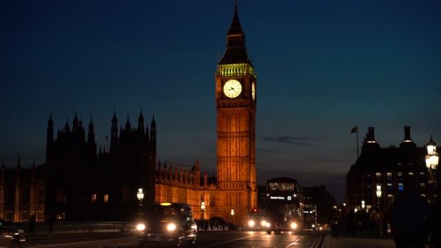 Westminster Bridge with Big Ben in London, UK video