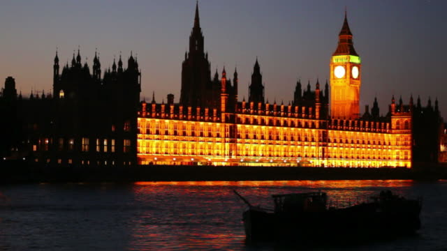 HD Westminster Palace and Big Ben at Night video