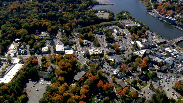 Westport  - Aerial View - Connecticut,  Fairfield County,  United States video