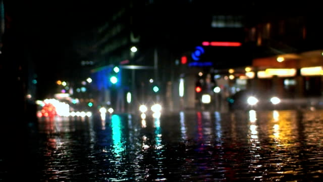 Wet Street at Night video