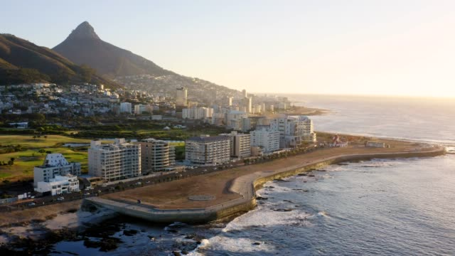 What a beautiful place to call home 4k video footage of city along the coastline cape town stock videos & royalty-free footage