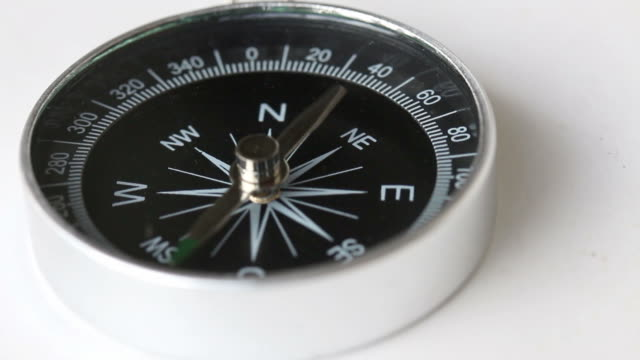 What´s wrong with this compass A compass lying on a white table and goes crazy... magnet stock videos & royalty-free footage