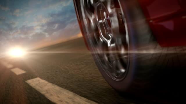 volante primo piano ad anello. - truck tire video stock e b–roll