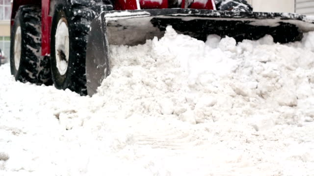 Wheel Loader Clearing Snow video
