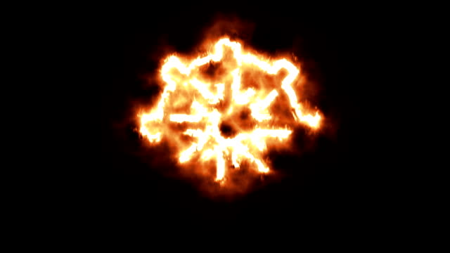 Wheel of Dharma Lighting up and Burning in Flames video