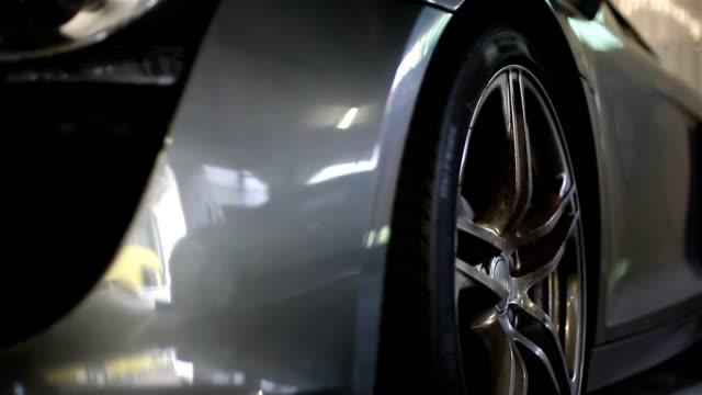 Wheel of sport car