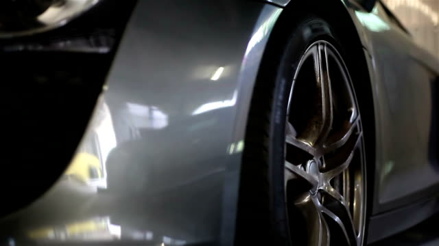 Wheel of sport car video