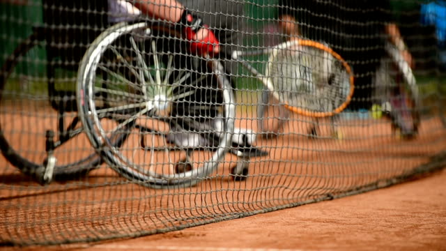Wheelchair tennis player video