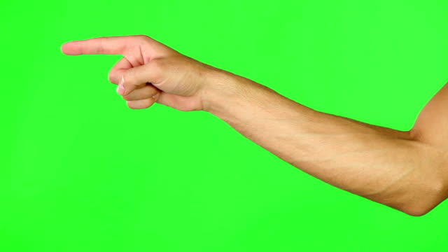 When nothing goes right, go left 4k footage of a man's hand pointing to the left against a green screen pointing stock videos & royalty-free footage
