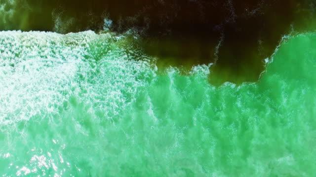 where the land meets the sea - telecomando background video stock e b–roll