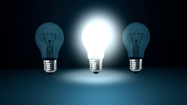 where you turn on the light bulb of an idea? video