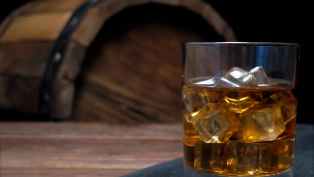 whiskey on bar counter - whisky video stock e b–roll