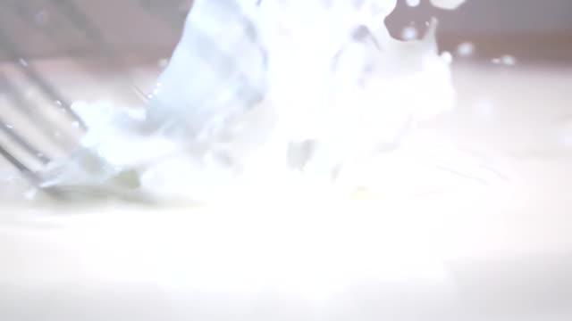 Whisking milk with blender video