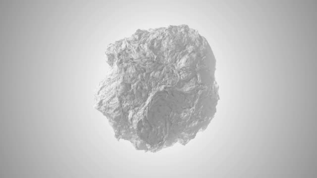 White 3D Ball Morphing with Grey Shades in Modern Seamless Loop Animated 4k Background Video.