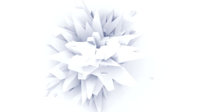 4K. White Abstract Digital Flower. Seamless Looped. video