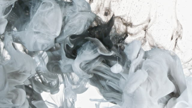 vídeos y material grabado en eventos de stock de blanco y negro de la tinta en agua - imagen pintada