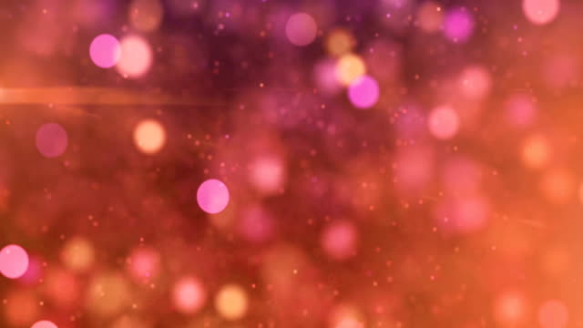 white and pink sparkles abstract particles seamless loop motion background - soft focus video stock e b–roll
