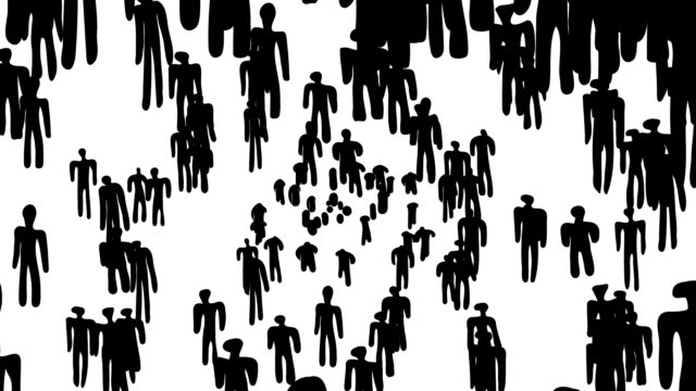 MEN, PERSON : white back - (LOOP) video