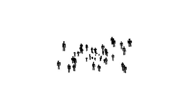 vídeos y material grabado en eventos de stock de hombres, clan: blanco back-(transición) - person icon