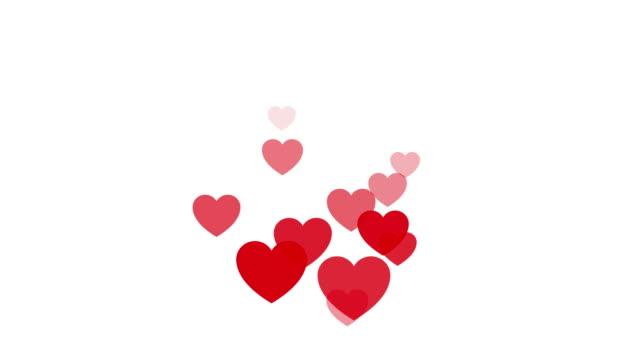 動くハート形状ストックビデオと白の背景 - 心臓点の映像素材/bロール