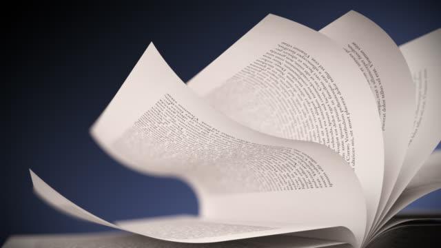 vídeos y material grabado en eventos de stock de páginas del libro blanco de giro. primer plano en bucle cg. - libro