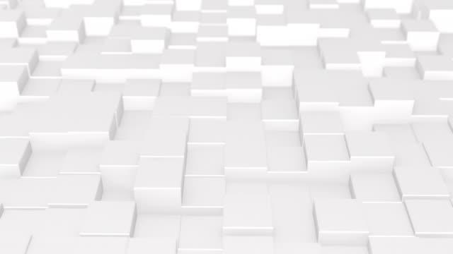 vidéos et rushes de boîtes blanches abstract 3d animation - cube