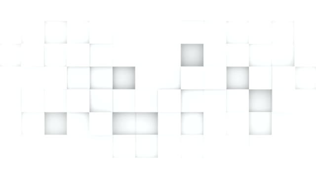 White boxes abstract 3D render loopable animation