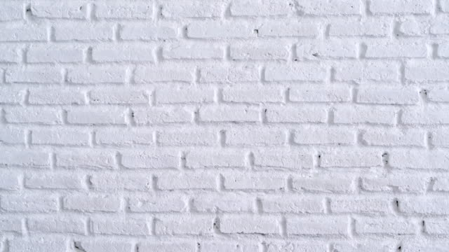White Brick Wall Background Panning Shot