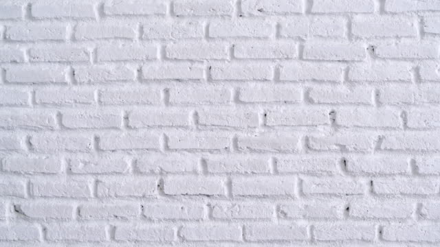 White Brick Wall Background Video of white brick wall background. 4K brick stock videos & royalty-free footage