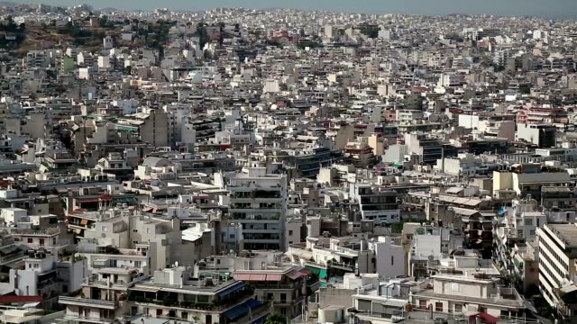 white buildings in centre of athens, greece - ocean front properties stock videos & royalty-free footage