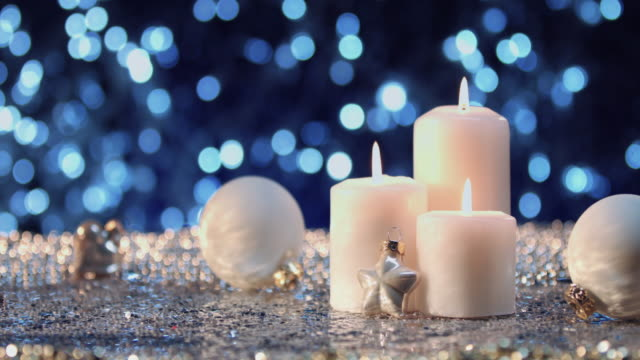 White Christmas candles video