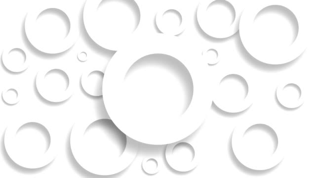 vídeos de stock, filmes e b-roll de círculos brancos na superfície movendo-se em animação 3d perfeita. fundo de design de movimento abstrato, vídeo de estoque - relevo