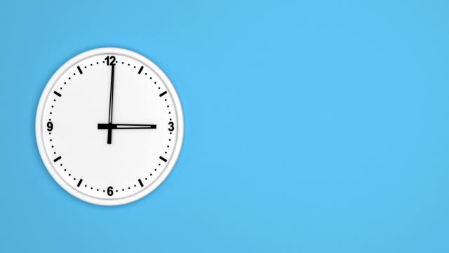 White color clock time lapse loopable video