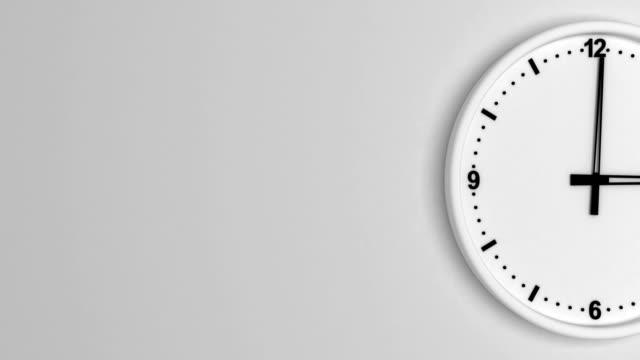 vidéos et rushes de couleur blanche horloge time-lapse bouclables - cadran