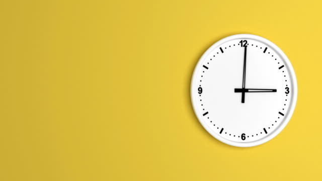 White color clock time lapse loopable White color clock time lapse loopable background color stock videos & royalty-free footage
