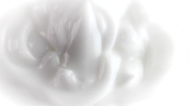 white cream rotating video