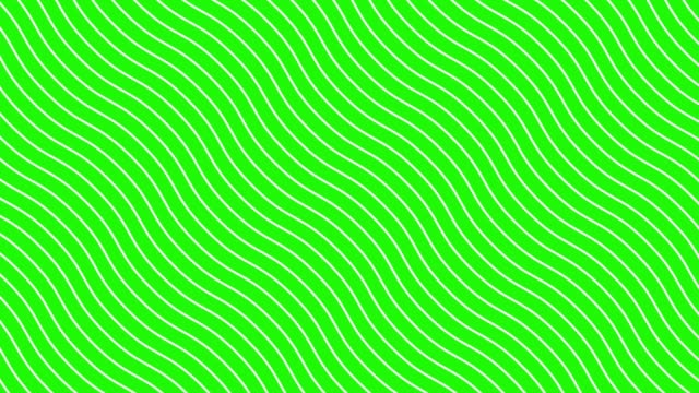 white curved lines in dynamic wave motion, green background. future geometric diagonal lines patterns motion background. 4k - płaski filmów i materiałów b-roll