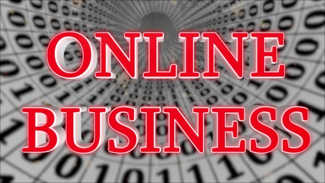 White Data Tunnel Online Business Concept Loop 4K – Video