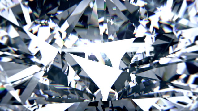 white diamond dispersion footage. fancy color diamond animated background - кристалл стоковые видео и кадры b-roll