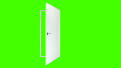 White door open and close on green background. No animation, green screen isolated White door open and close on green background. No animation, green screen isolated. door stock videos & royalty-free footage