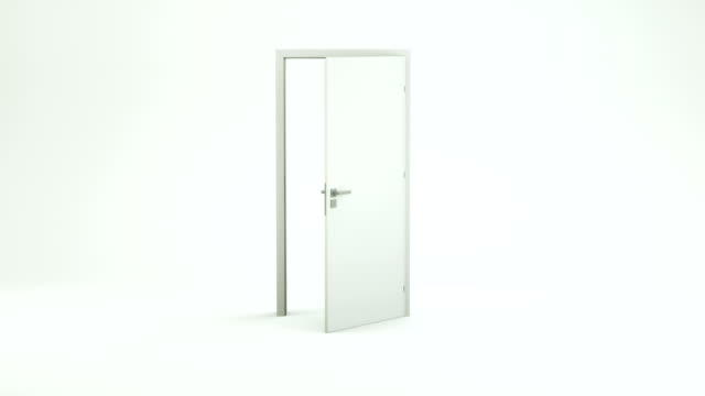 stockvideo's en b-roll-footage met witte deur opening-lege kamer | 4k - boog architectonisch element