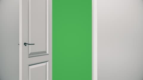 White Door Opening to Green Screen - Empty Room | 4K http://i.imgur.com/Z24r0.jpg door stock videos & royalty-free footage
