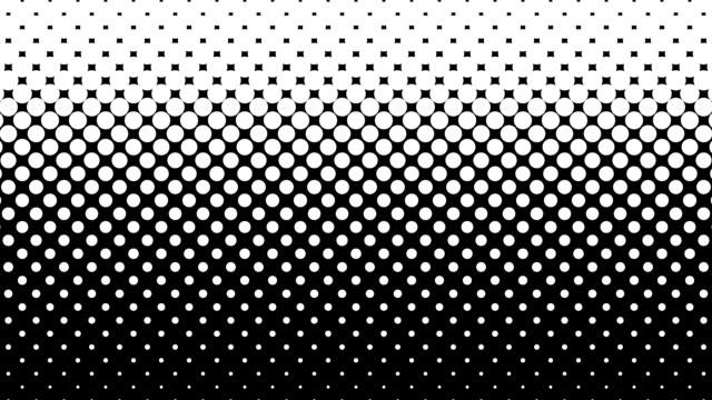 stockvideo's en b-roll-footage met witte stippen patroon op zwarte achtergrond. - halftint
