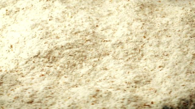 White Flour Rotating Closeup