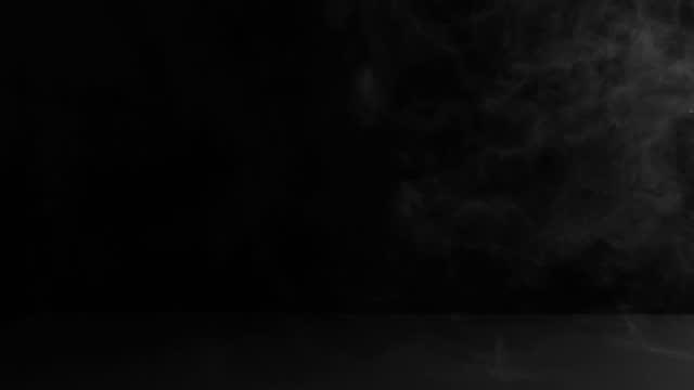 vídeos de stock, filmes e b-roll de fundo preto neblina branca , vídeo clipe stock footage. - clipe