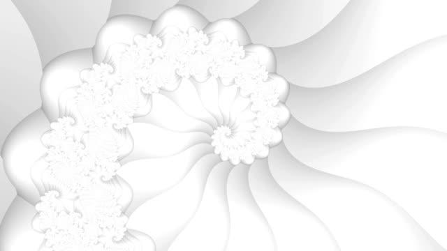 白色分形螺旋無縫環路視頻背景 - golden ratio 個影片檔及 b 捲影像