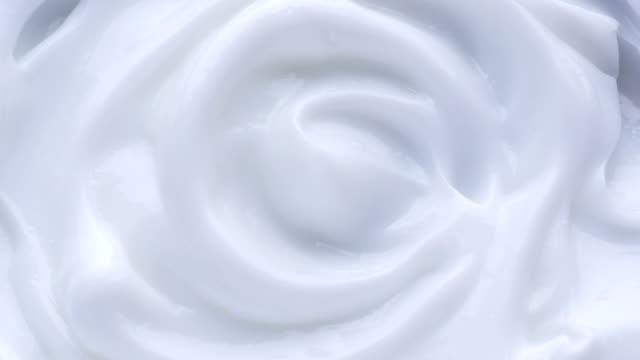 White gentle cosmetic cream. video