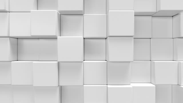 vidéos et rushes de géométrique hexagonal abstrait fond blanc. rendu 3d - cube