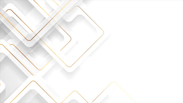 white geometric motion background with abstract golden lines - бесшовный узор стоковые видео и кадры b-roll